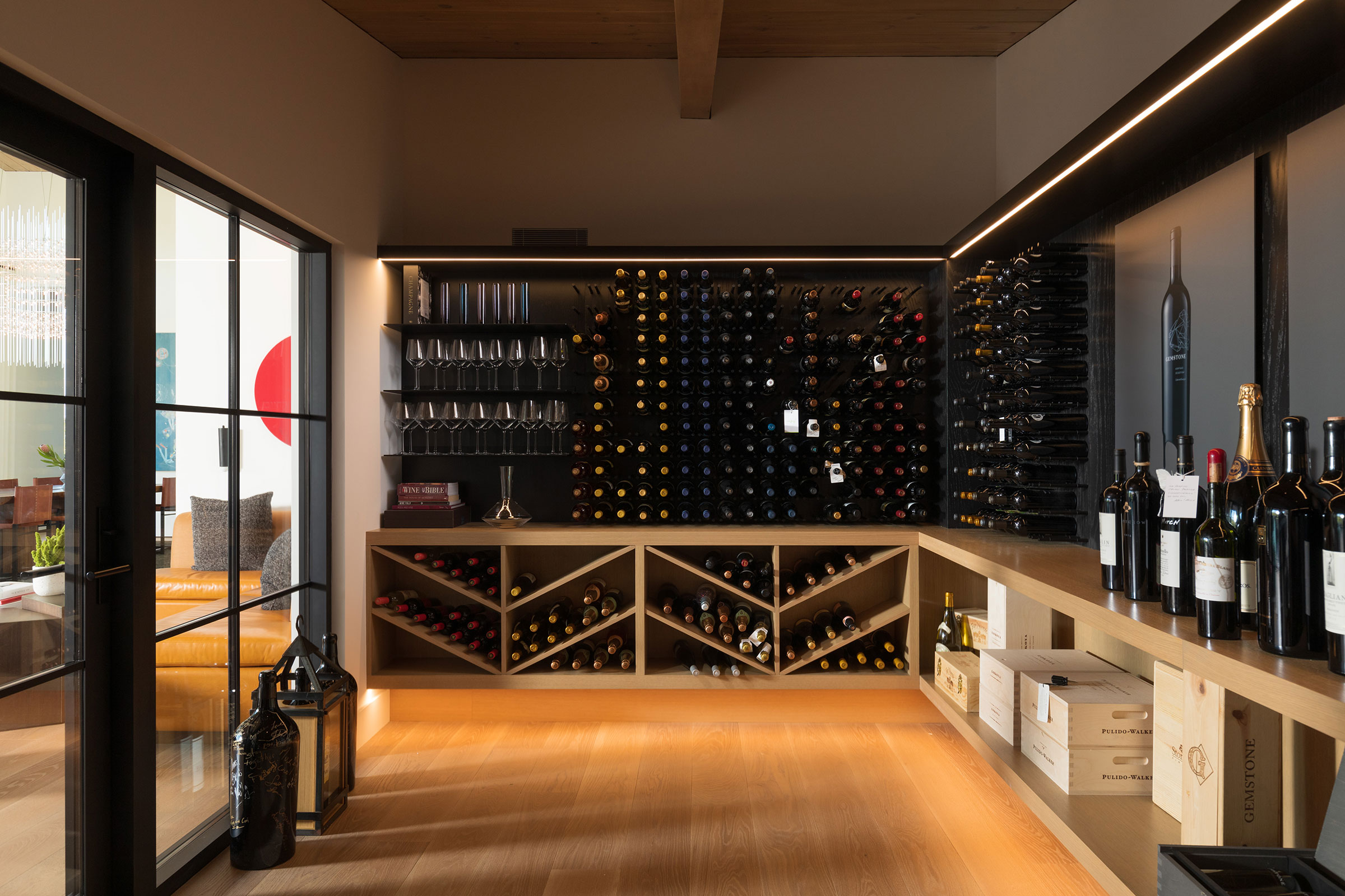 Oriinda Ridge Wine Room Buestad Construction