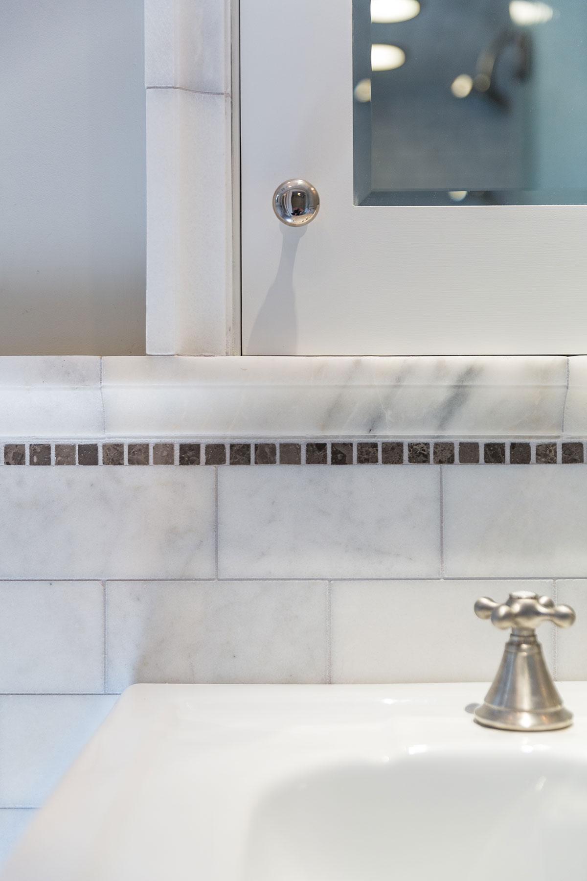 Clark Mansion Alameda Bath Faucet with Tile Detail Buestad Construction