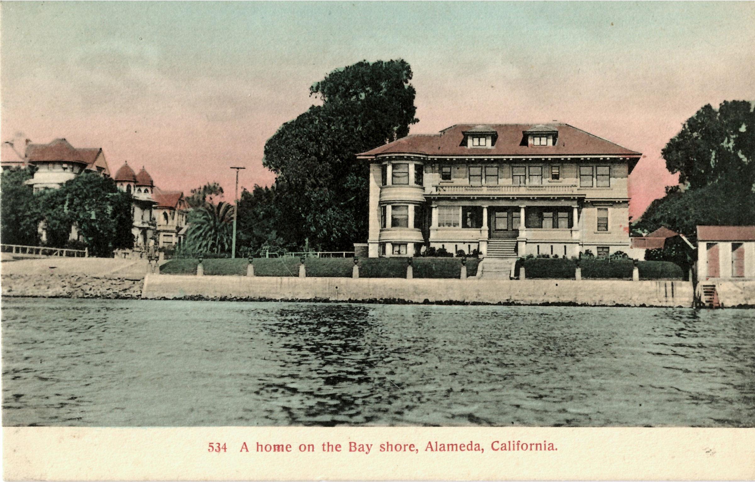 Clark Mansion Alameda Postcard Buestad Construction