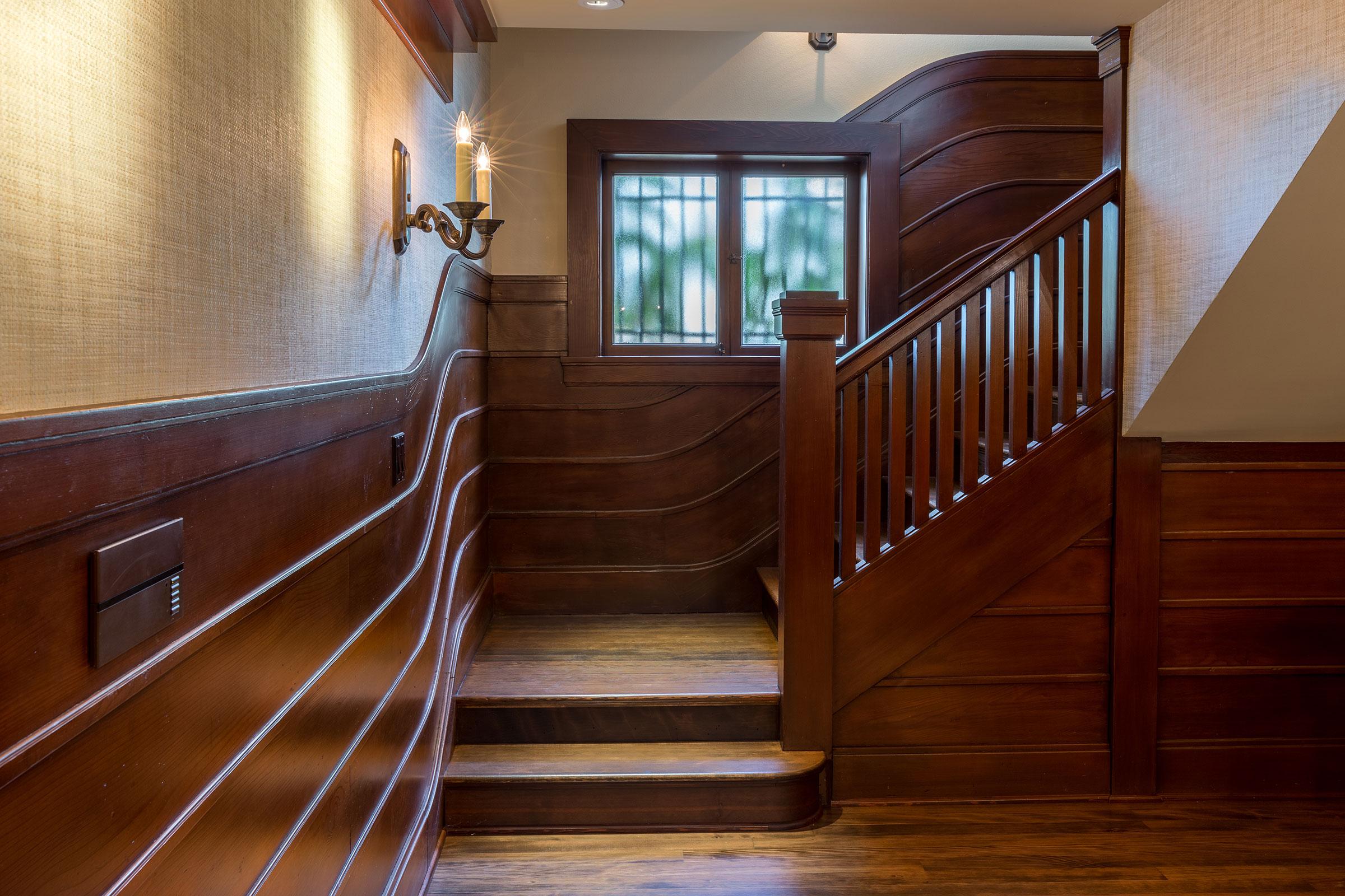 Clark Mansion Alameda Stairwell Entry Buestad Construction