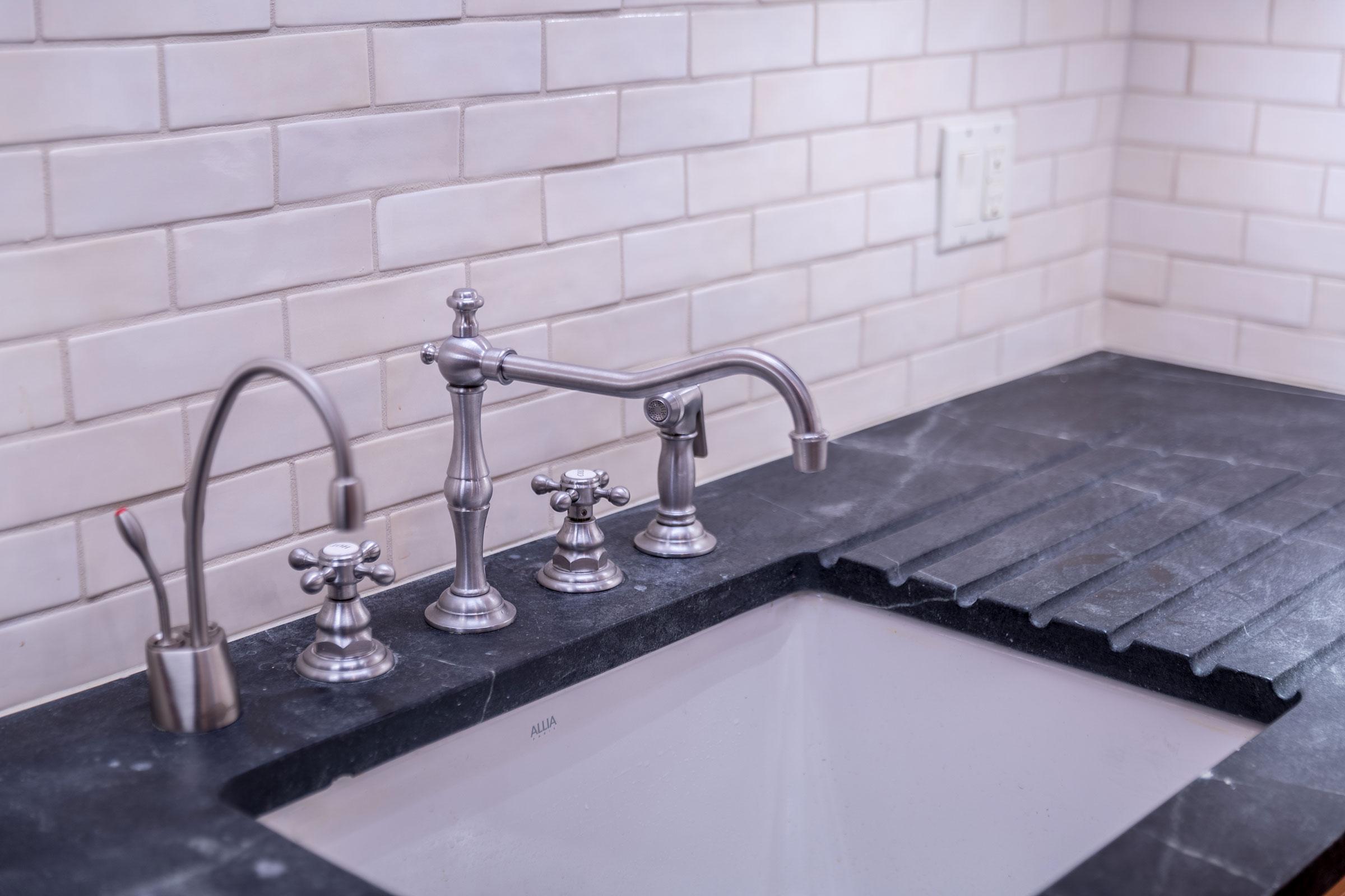 Clark Mansion Alameda Tiled Kitchen Sink Buestad Construction