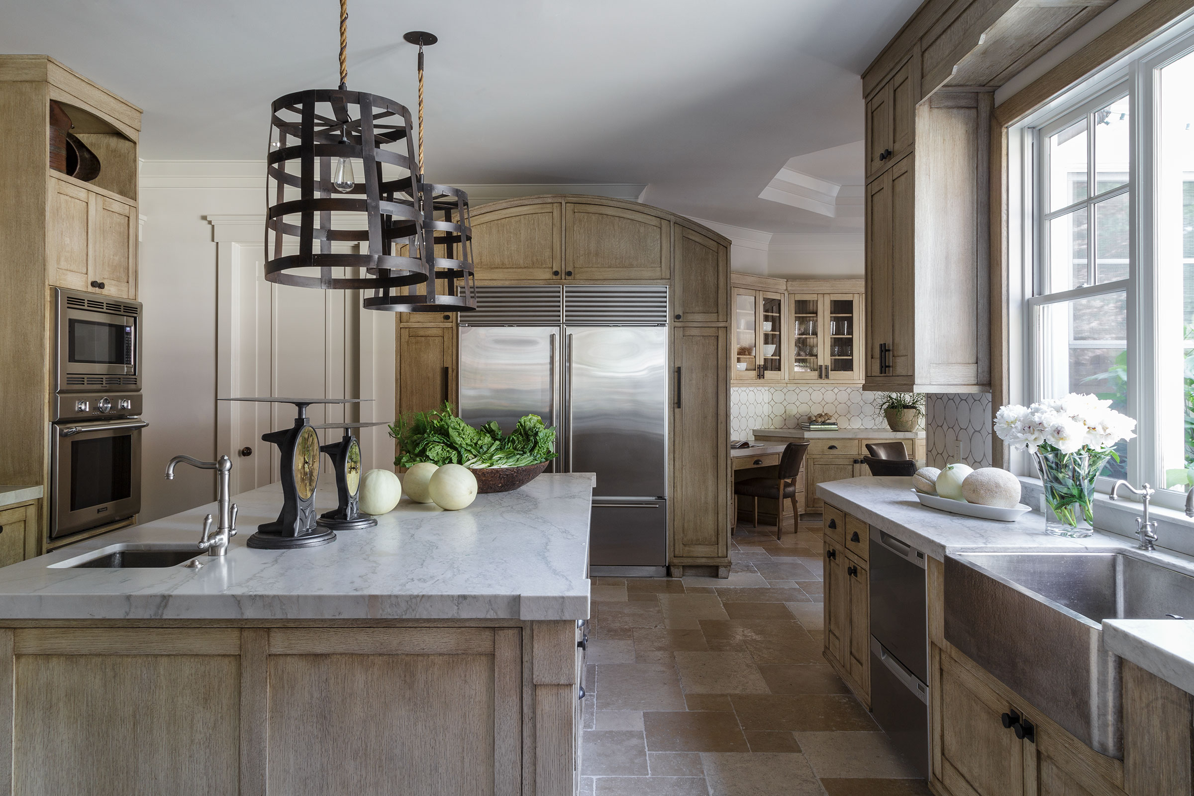 Diablo Shingle Style Kitchen with View to Dining Area Buestad Construction