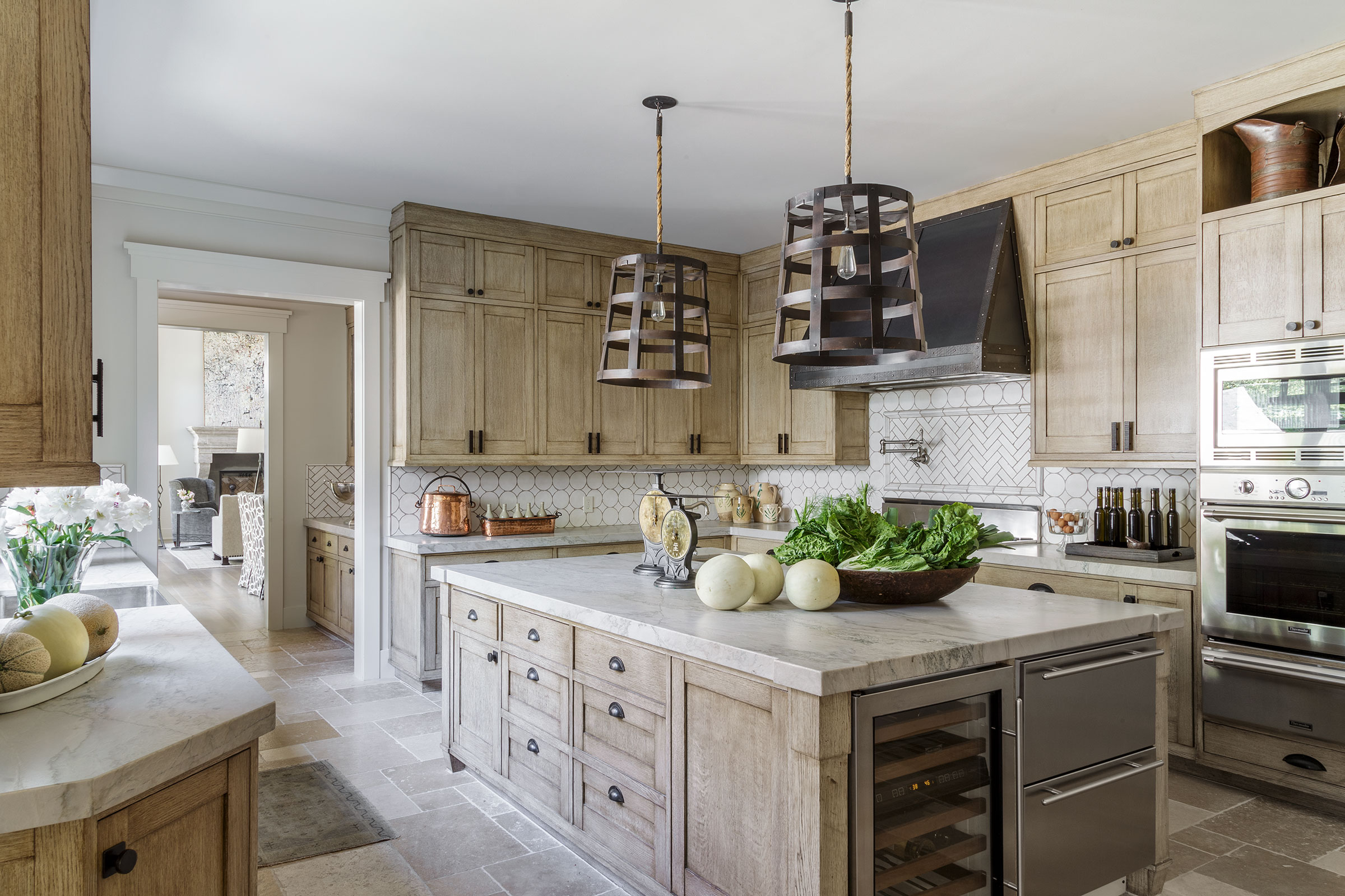 Diablo Shingle Style Kitchen with View to Living Room Buestad Construction