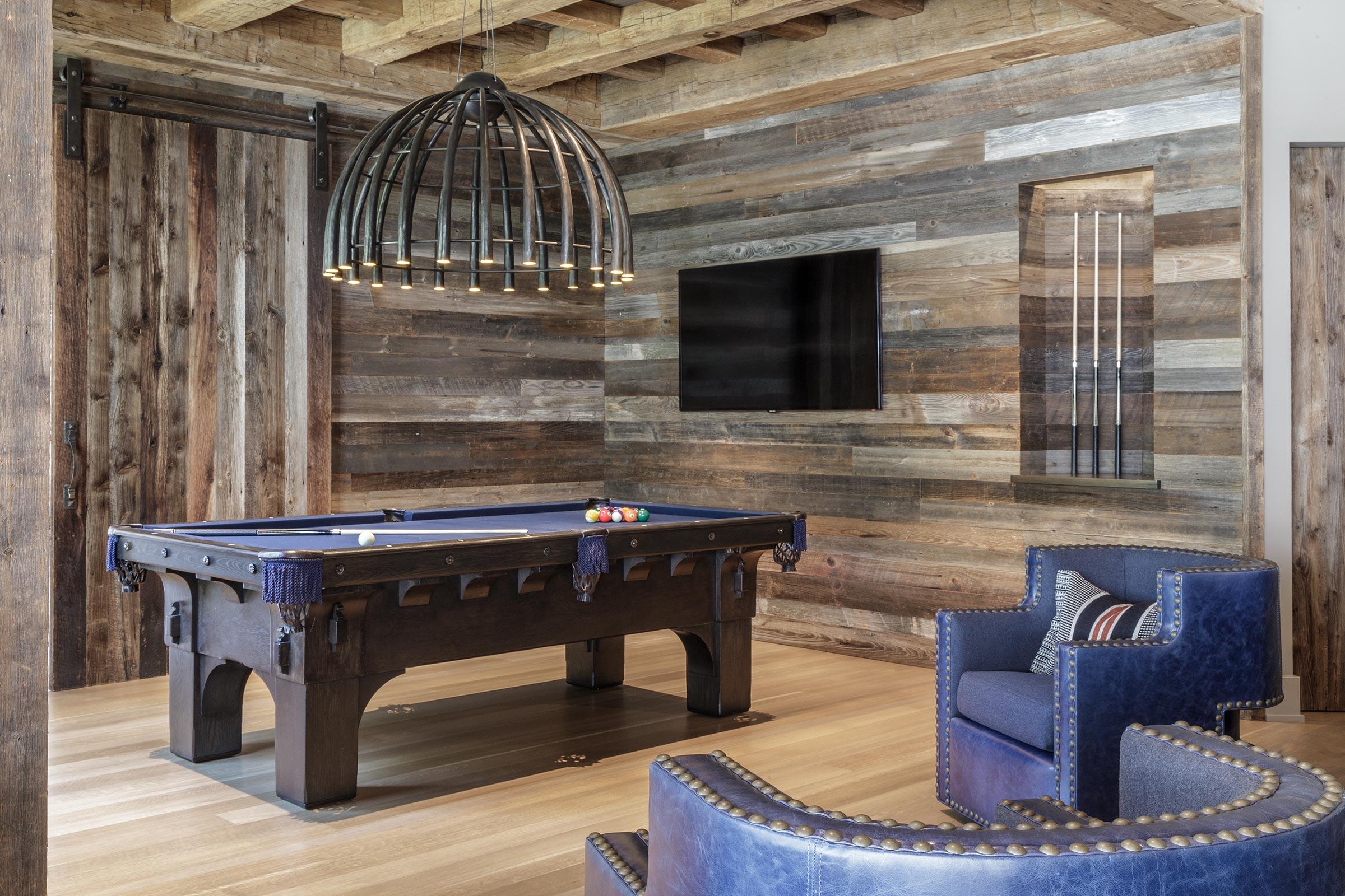 Diablo Shingle Style Rec Room with Pool Table Buestad Construction