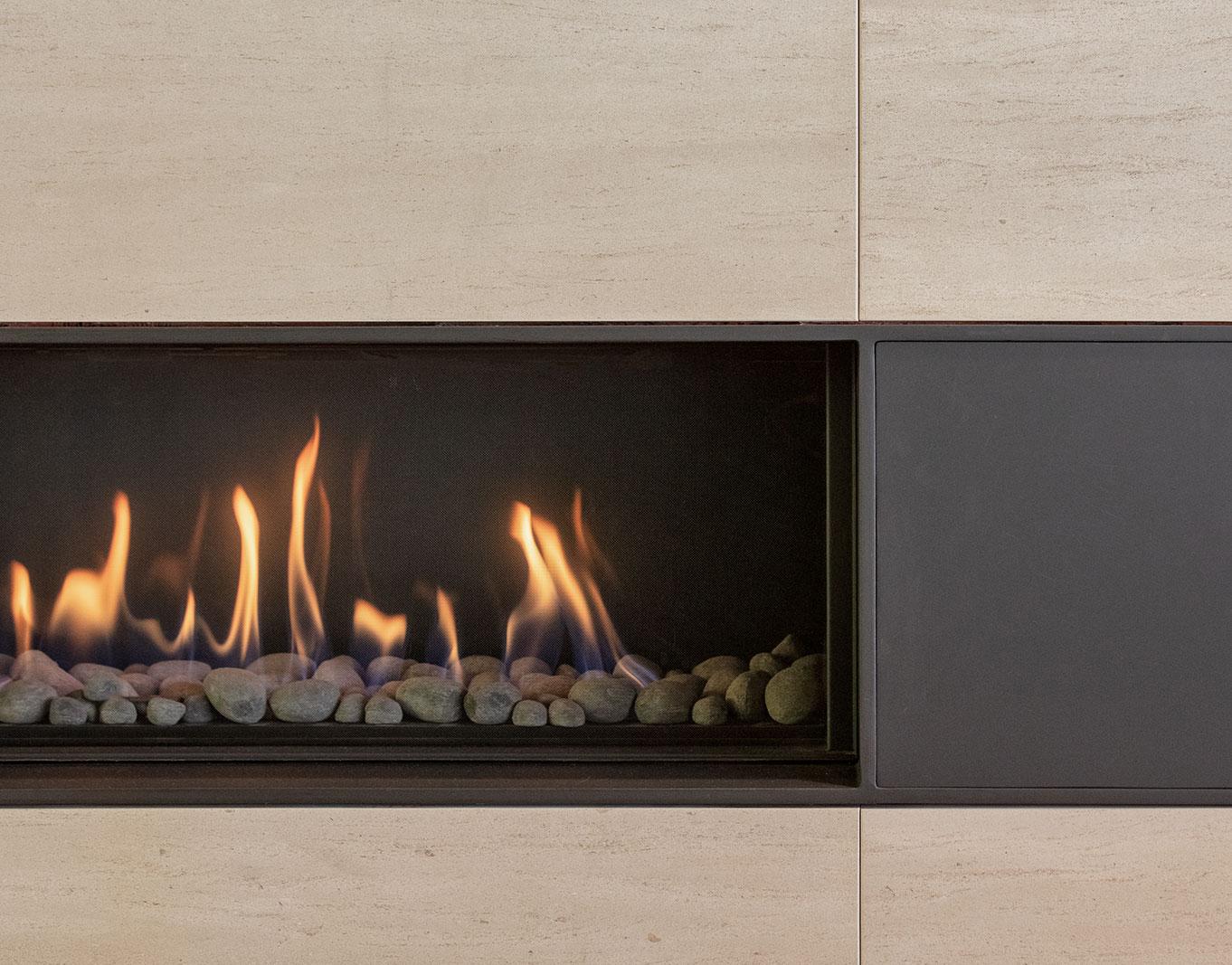 Piedmont HIllside Fireplace Detail Buestad Construction