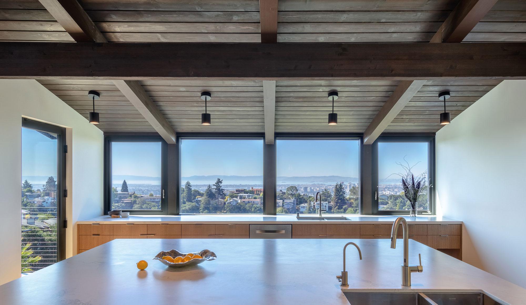 Piedmont HIllside Kitchen with View Buestad Construction