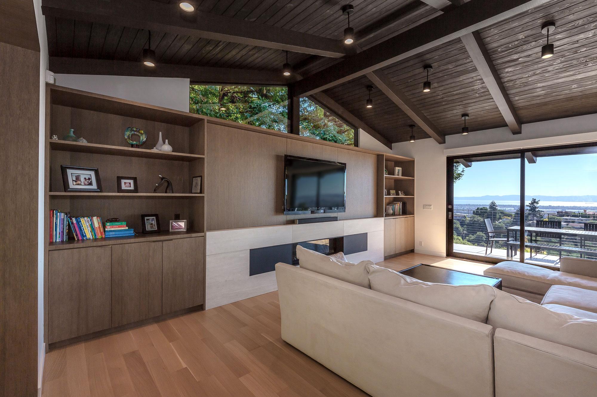 Piedmont HIllside Living Room Angle Buestad Construction