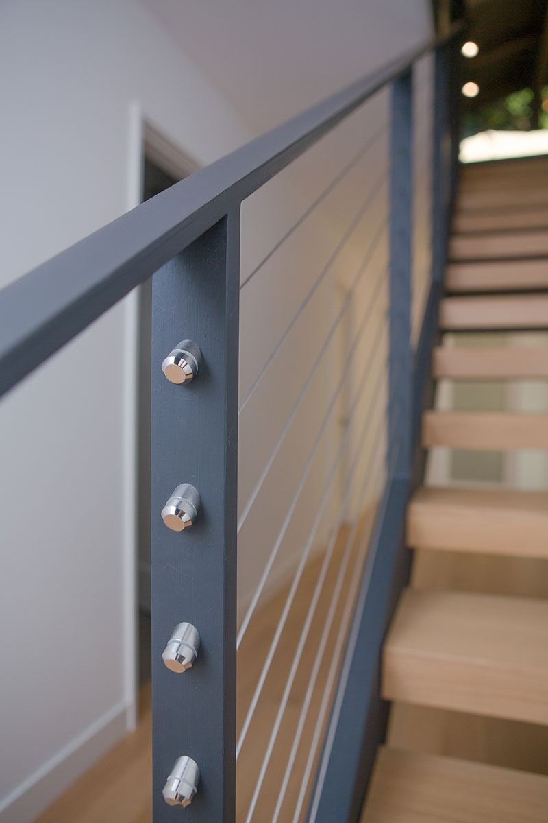 Piedmont HIllside Stair Detail Buestad Construction