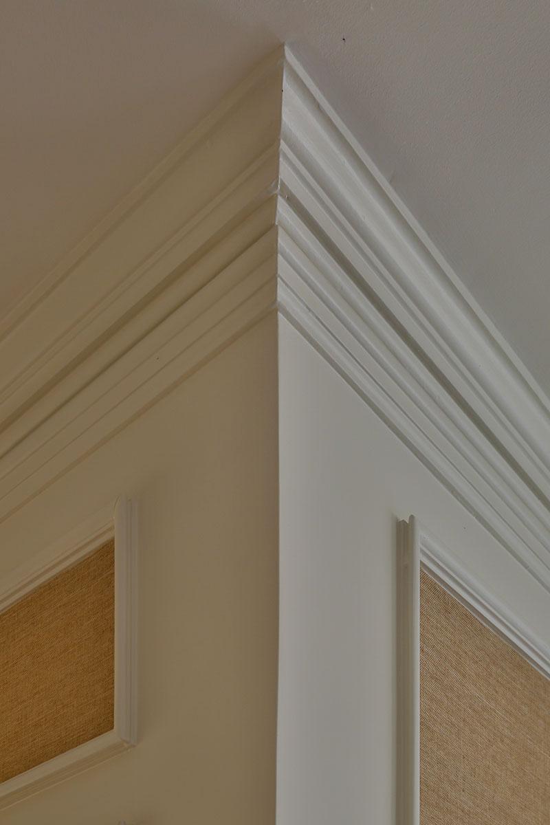 Piedmont Mediterranean Revival Ceiling Corner Detail Buestad Construction