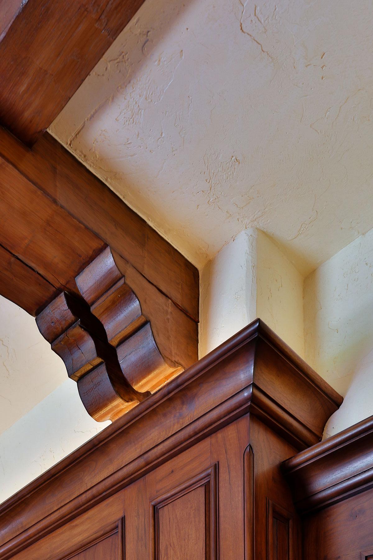 Piedmont Mediterranean Revival Ceiling Wood Detail Buestad Construction