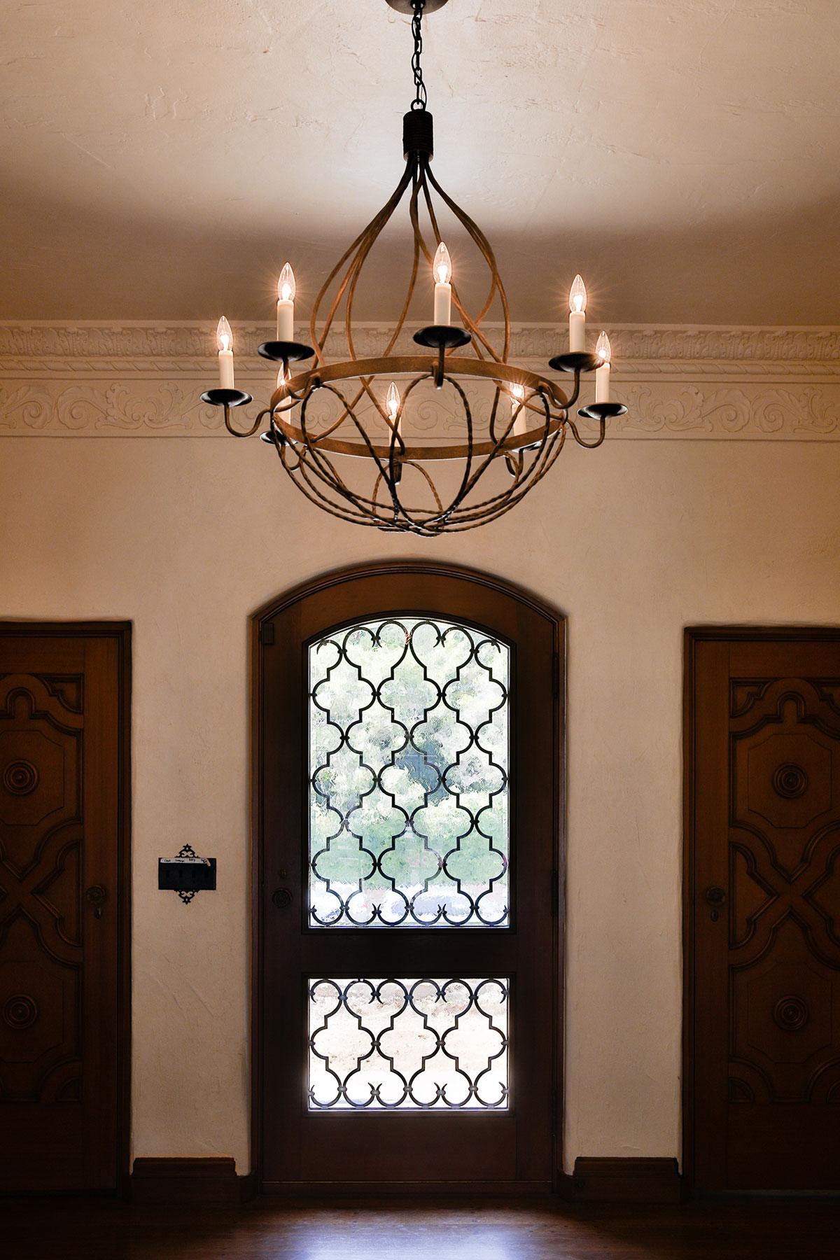Piedmont Mediterranean Revival Door Looking Out Buestad Construction v2