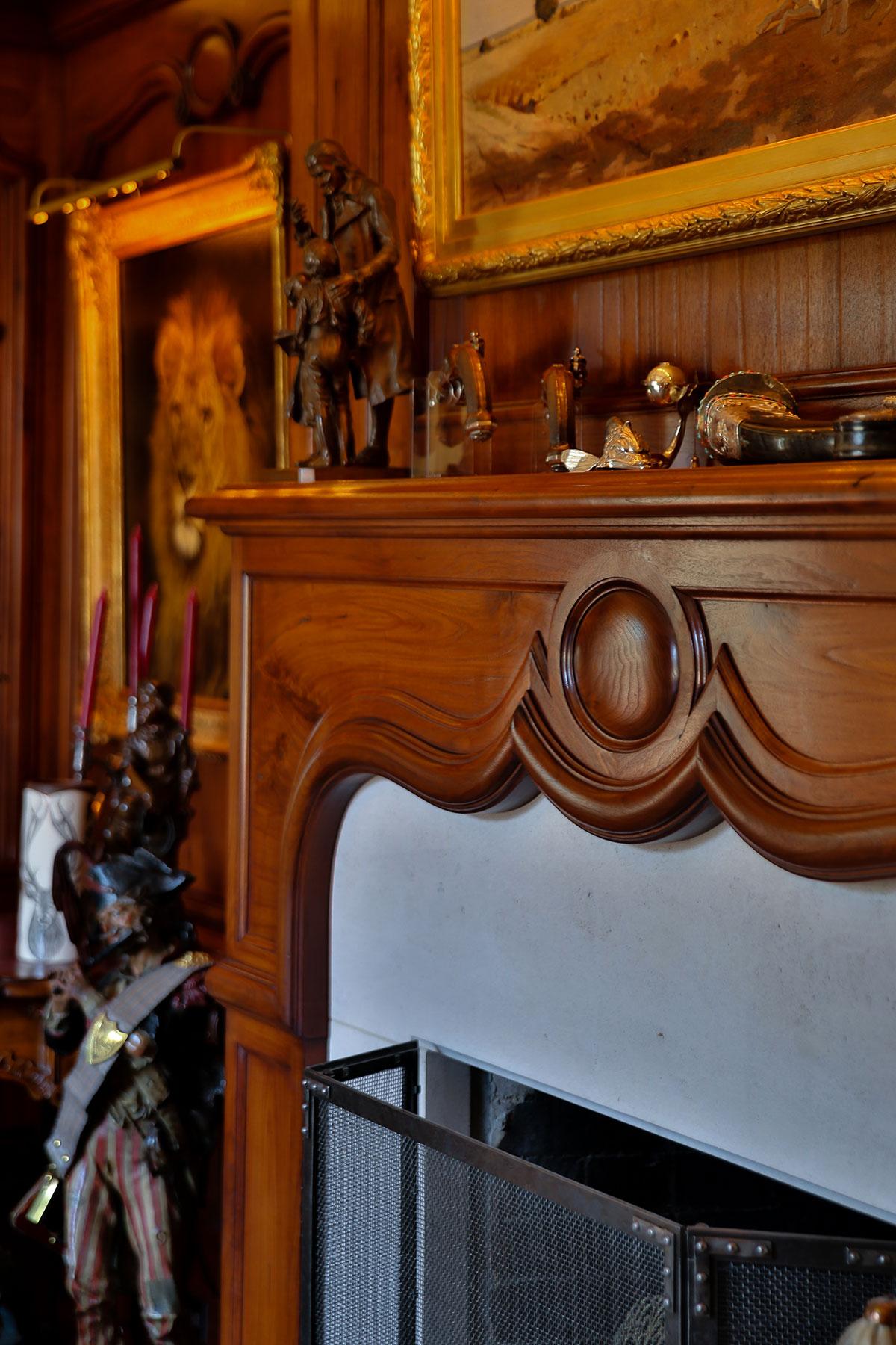 Piedmont Mediterranean Revival Fireplace Buestad Construction