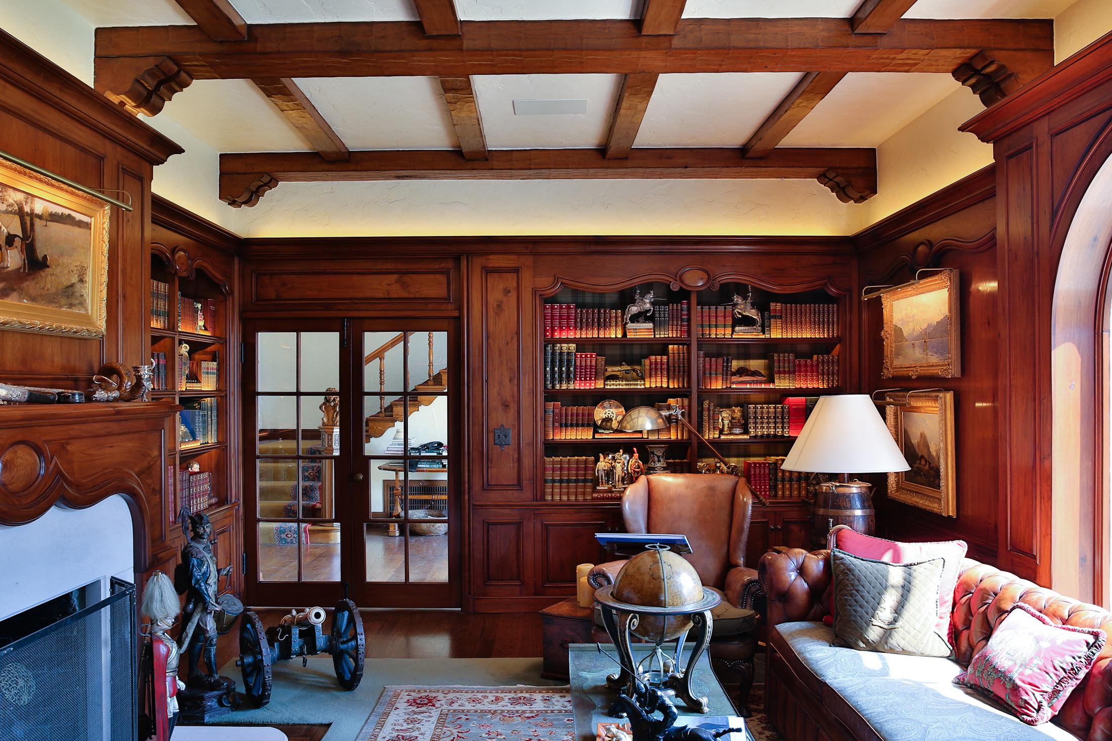 Piedmont Mediterranean Revival Library Reading Room Buestad Construction